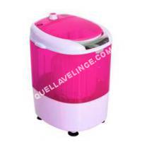 lave-linge-compact  Mini machine à laver 170 W fotions lavage essorage avec minuterie rose et bla neuf 04PK
